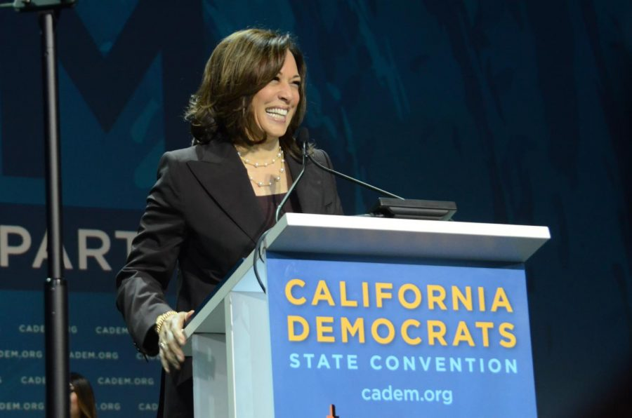 U.S.+Senator+Kamala+Harris+speaks+at+a+General+Assembly+during+the+California+Democrats+2019+State+Convention+on+Saturday+morning.+There+have+been+only+two+female+major+party+vice+presidential+nominees+in+U.S.+history%3B+Sen.+Kamala+Harris+%28D-C.A.%29+is+the+third.%0A