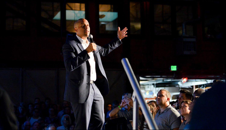 "Harker Aquila | ""Saving democracy"": Cory Booker taps into"