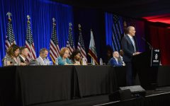Presidential candidates, climate protesters and DNC members convene at summer meeting in San Francisco