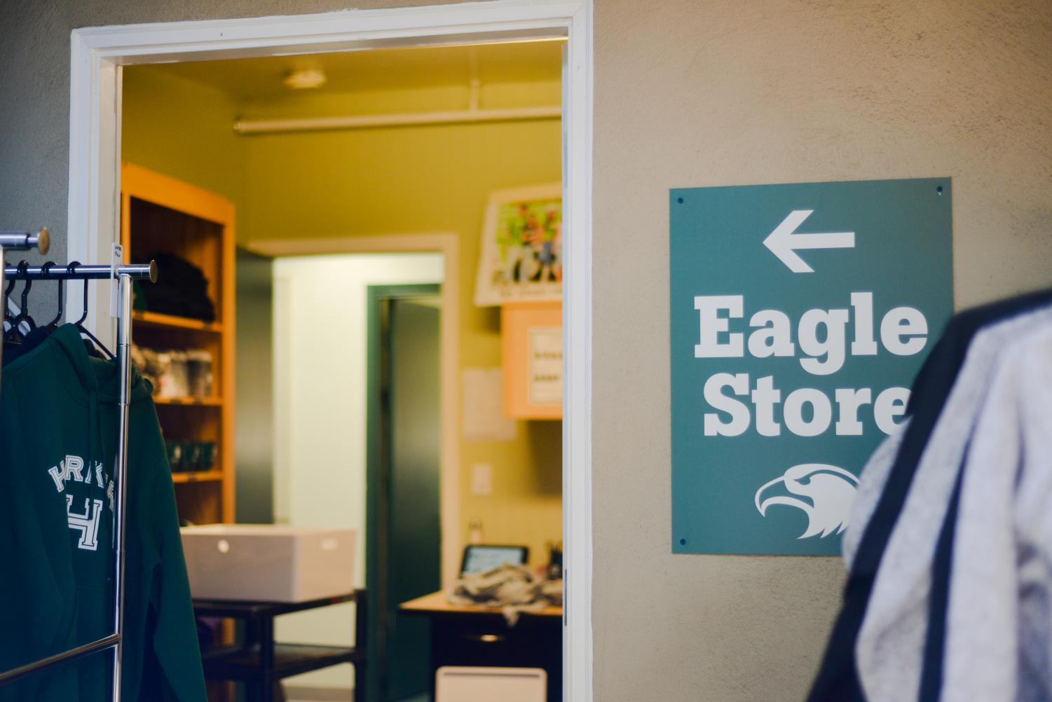 The Saratoga campus Eagle Store. The store opened yesterday and contains a selection of Harker merchandise for purchase.