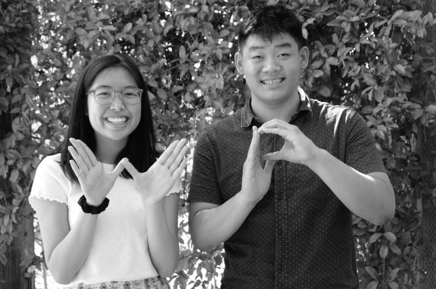 Eric Fang (12) and Gloria Zhang (12) are the editors in chief for the 2019-2020 Winged Post newspaper.