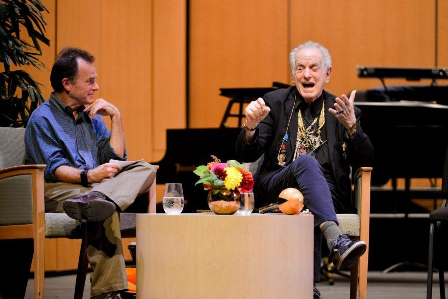 Award-winning composer David Amram imparts wisdom, music at Speaker Series performance