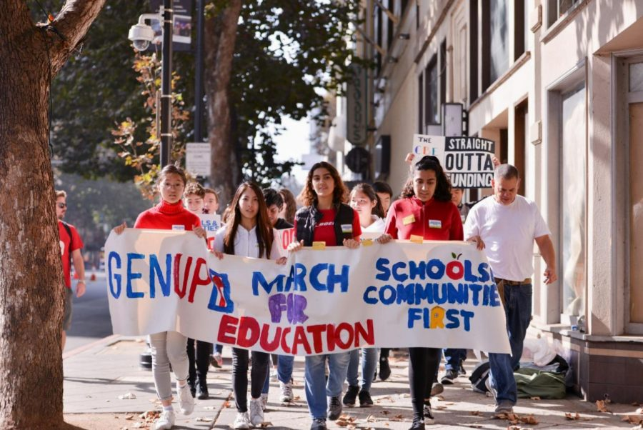 Saanvi+Arora+%2810%29+joins+other+high+school+students+from+around+the+Bay+Area+in+leading+last+Saturday%27s+March+for+Education.+Saanvi+is+a+member+of+GEN-Up%2C+a+student-led+social+justice+organization+and+student-activist+coalition.