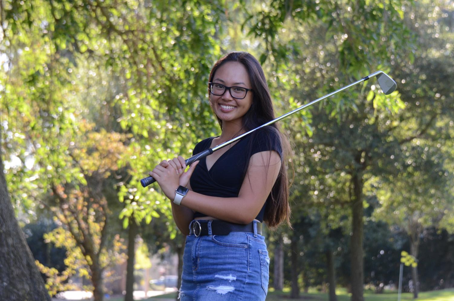 """""""When I was younger, whenever I wasn't playing well, I'd let myself break down on the course, but I had to learn that it's okay. One bad hole isn't going to ruin the entire round. I feel like that's really representative of real life too. One bad day isn't going to ruin the rest of my life. [With golf], I've really had to learn how to bounce back from any obstacles that come in my way,"""" Katelyn Vo (12) said."""