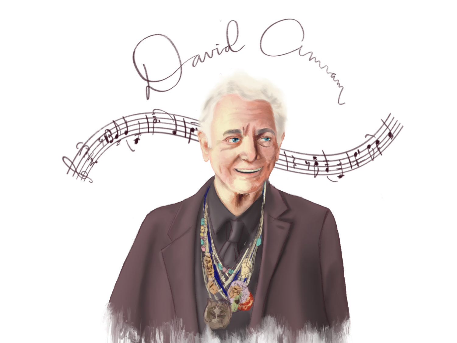 Composer David Amram, who will be visiting the upper school as this year's artist in residence. His visit begins tomorrow and will last throughout the week, and he will host a number of workshops, lectures and talks for students to learn more about music and art.
