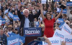 Alexandria Ocasio-Cortez joins hands with Bernie Sanders in her first public endorsement of his campaign
