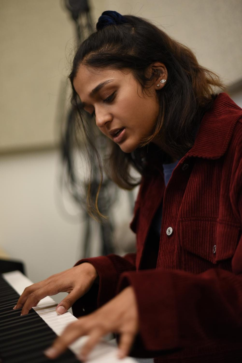 """I think my curiosity is a combination of the environment I was brought up in and also the culture of Harker and the Bay Area. I always think of everything as something that can be questioned, regardless of whether it's an established truth; that's the only way you'll get anywhere,"" Smriti Vaidyanathan (12) said."