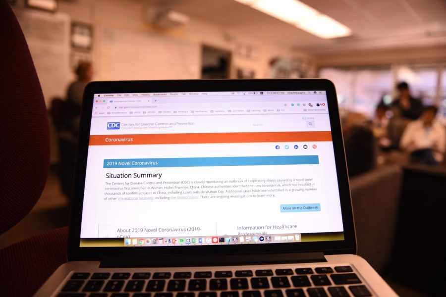 The Centers for Disease Control's situation summary for 2019-nCoV is displayed on a student's laptop in the journalism room. Nearly 10,000 people from across the world have contracted the virus, and 213 people in China have died, as of midnight Jan. 30 Chinese Standard Time.