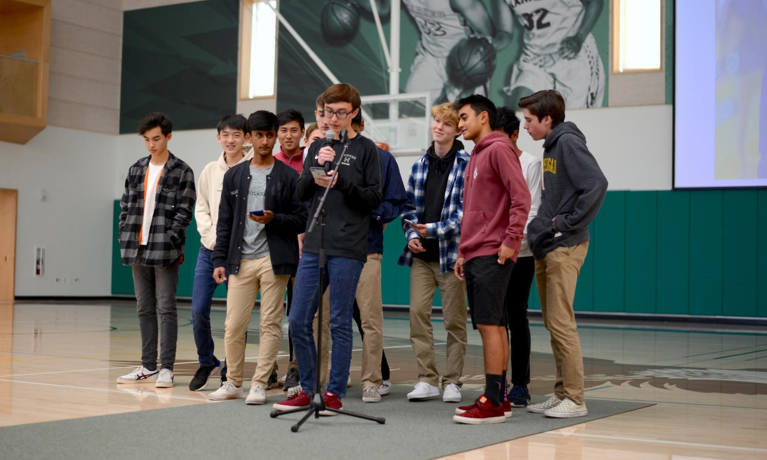 Members of the boys soccer team announce that their annual Kicks Against Soccer games are on Friday. The boys junior varsity team plays at 3 p.m. against Pinewood, girls varsity team plays at 4:45 p.m. against Notre Dame and boys varsity team plays at 6:30 against Priory.