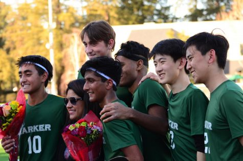 Varsity boys soccer crushes Eastside College Prep on senior night