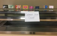 The condiment bar in Fresh Mex in the auxiliary gym was closed last Friday as kitchen staff worked to implement a
