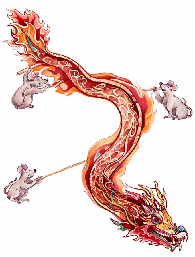 Dragons symbolize wisdom, power and wealth and are believed to bring good luck to people. Dragon dancing is an ancient traditional dance that is said to scare away evil spirits.