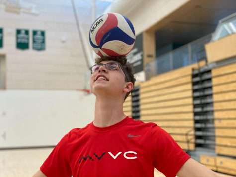 """School and volleyball are really the same thing … they're parallel. When you're down in volleyball, you have to keep on going, just like in your studies. I think now I'm doing an excellent job of balancing my three aspects of life: activities, social life and sleep,"" Liam Bakar (12) said."