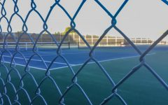 "The tennis courts at Westmont High in Los Gatos remain locked up. ""It's sort of hard to transition from playing tennis every single day to just not doing anything and sitting around,"" varsity tennis co-captain Ramanand Vegesna (12) said. ""Sometimes when you're doing your own workouts it's hard to stick to something and you kind of get lost in what you want to work on, so I think [Volt is] a really good tool, and people who don't have a lot of experience working out can use it and figure out what exercise they want to do."""