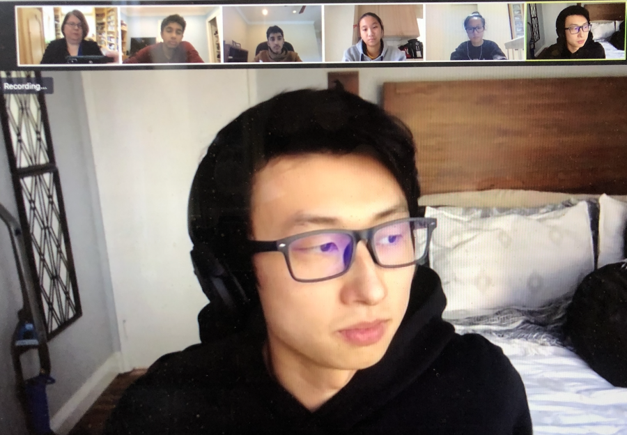 Filmmaker Bing Liu spoke to upper school journalism students over Zoom. He talked about his journey into filmmaking and gave advice for those interested in producing films.