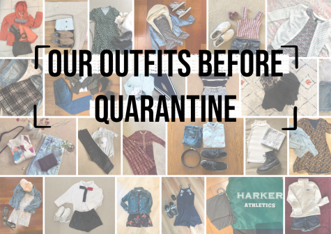 A collection of flat lays taken to share the outfits student journalists would have worn these last three months if not in quarantine.