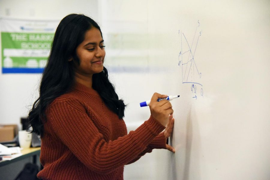 """Prioritize yourself. I now prioritize my health over any grade. Overworking is one of the biggest things you should not do because the results are not always what you want, which leads to you feeling like you did it for nothing. I feel like taking that breather, and finding why you're really doing something is really important,"" Srivani Vegesna ('20) said."