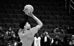 Washington Wizards point guard Rui Hachimura warms up his jumpshot prior to the team's game against the Charlotte Hornets earlier this season. Athletes in professional sports leagues across the nation have boycotted their games in light of the shooting of Jacob Blake in Kenosha, Wisconsin.
