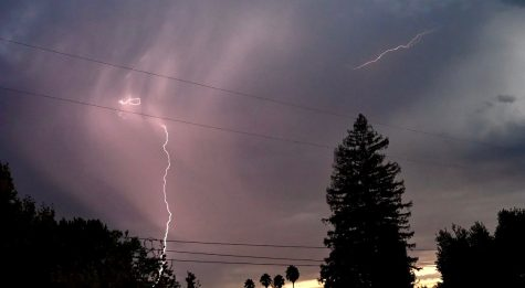 Lightning strikes from thunderstorms were seen across the Bay Area on the morning of Aug. 16. The storms, which came after record-breaking heat, helped fuel the fires, according to a press release from California Gov. Gavin Newsom.