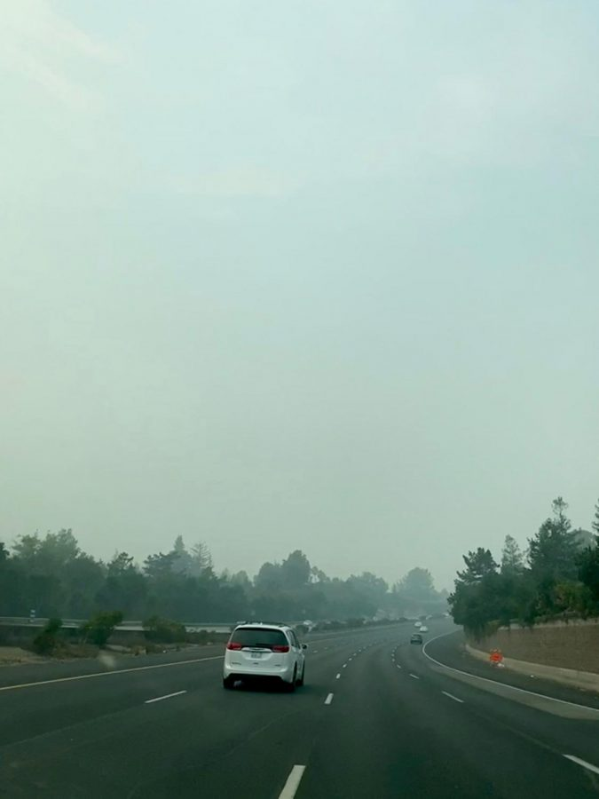 Smog is visible in Los Altos on Aug. 23.