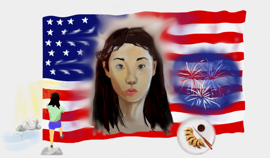 My Asian American identity is composed of traditions from both my heritage and nationality. Whether it be watching fireworks on the Fourth of July, eating dumplings on Lunar New Year or spending summers in my grandparents' complex in Xi'an, I carry both cultures with me.