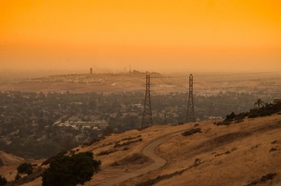 The Bay Area Sky turned shades of orange and yellow due to the fires ravaging the state. Over 3.1 million acres of land have burned since the start of the year.