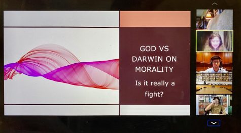 Professor Michael Ruse, a professor of philosophy from Florida State University, discusses the concepts of evolution in connection to those of human morality. Philcon was held virtually on Oct. 16 and 17.