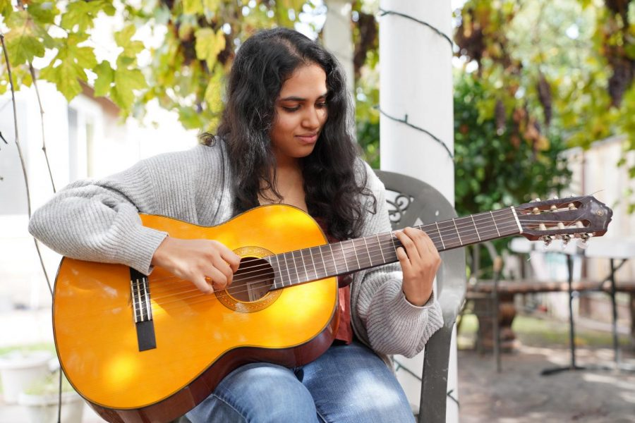 """""""[Music] is worth it because it's something that's for myself, and it's something that I genuinely have found myself to enjoy. It's a great way for me to express my own creativity and explore and learn about myself in the process,"""" Santoshi Tirumala (12) said."""