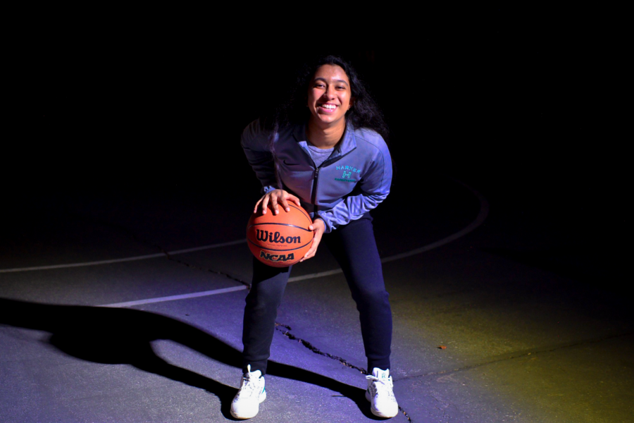"""I want [people] to remember me for always being a team player and always looking out for other people. Especially in athletics, I want to be supportive of everyone around me and show others that they're not in it alone. You'll always have the support of other people in your community,"" Maria Vazhaeparambil (12) said."