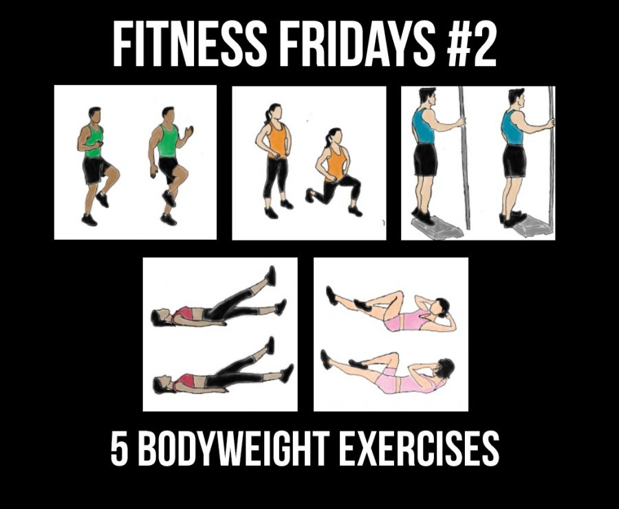 Fitness Fridays is a weekly repeater featuring five bodyweight exercises you can perform to stay healthy during quarantine.