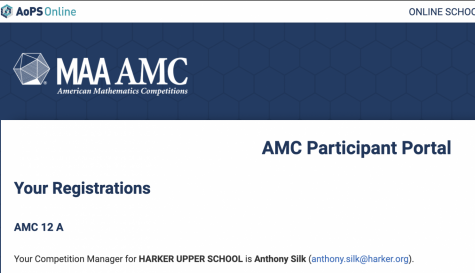 The landing page for the online portal to take the AMC tests, hosted on the Art of Problem Solving (AoPS) website. Like previous years, all of the exams were 25 multiple choice questions to be completed in 75 minutes.
