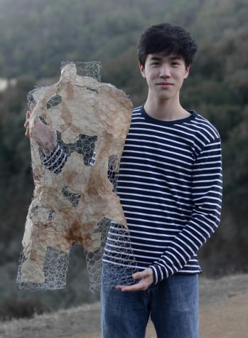 """Sculpture is a way for me to communicate my ideas and beliefs in a way that resonates with a viewer. I really enjoy the process of experimenting with a bunch of different materials because the medium that I work in, mixed media sculptures, is very open-ended,"" Alex Zhai (12) said."