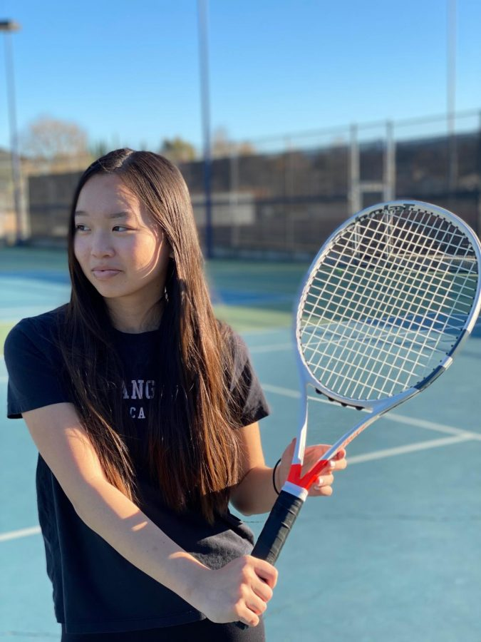 """If you hit a bad shot, don't let that get in the way of your next point, because you always play each point point by point. You forget the mistake you made. Learn from that, and do only what you can control. Apply that in tennis and don't let that ruin your match,"" Kelcie Fan (12) said."