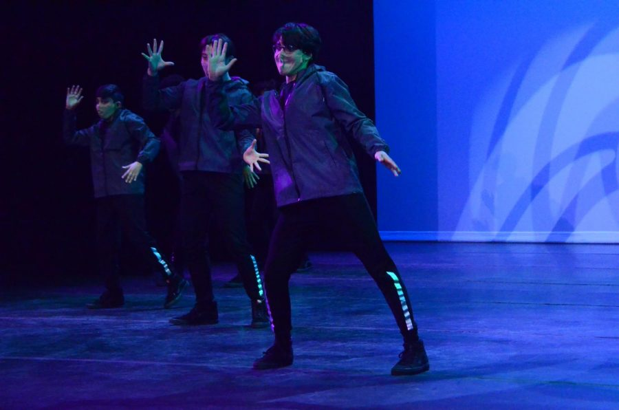 In his student choreographed dance