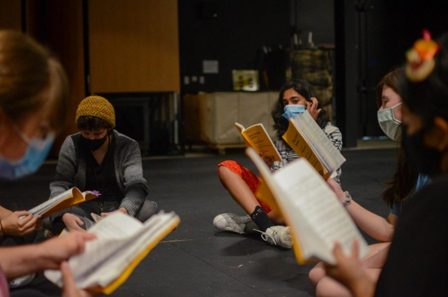 Members of the S@TC Intensive Cast rehearse the musical scene of their show Star Crossed Lovers. Unlike last summer, the upper school held in-person activities on campus for Conservatory Intensive and Summer Institute courses in the past couple of months.