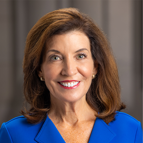 Former Lt. Gov. Kathy Hochul was sworn in today as the 57th governor of New York and the state's first female governor.