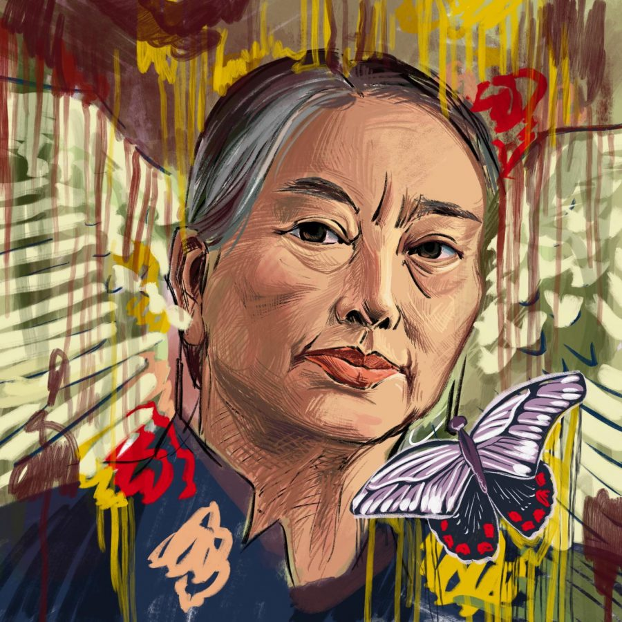 Known for canvases dripping with emotion and depth, artist Hung Liu gave voice to those who have been forgotten—immigrants, migrant workers and laborers—and made their stories beautiful. Through Liu's eyes, we see a humble shoemaker woman illuminated as the subject of an ethereal composition.