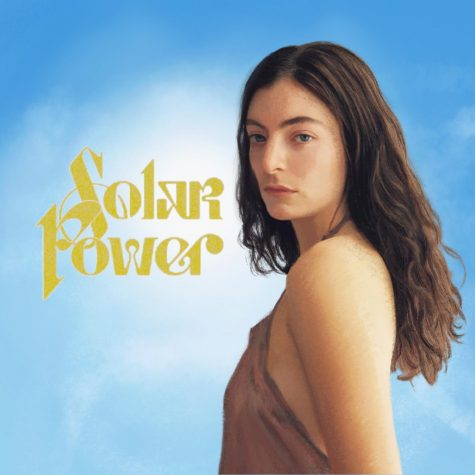 """An illustration of Lorde beside the title of her new album """"Solar Power."""" After it debuted on Aug. 20, at the beginning of September, the album reached No. 5 on Billboard's 200 Albums Chart and No. 1 on Billboard's Alternative Albums chart."""