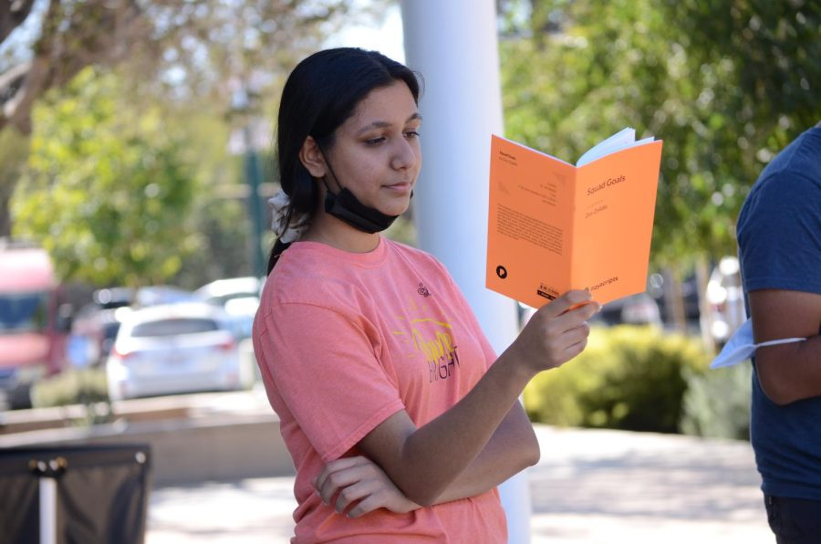Saumi Mehta (12), one of the four senior directors, participates in a staged reading of the play Squad Goals on Oct. 1. The student directors posted the cast lists for all the plays on Saturday.